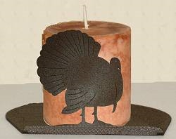 Silhouette Candle Holder - Turkey Design