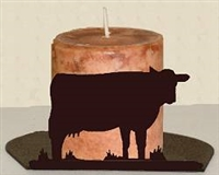 Silhouette Candle Holder - Cow Design