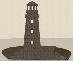 Silhouette Candle Holder - Lighthouse Design