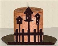 Silhouette Candle Holder - Birdhouse Design