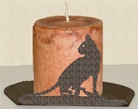 Silhouette Candle Holder - House Cat Design