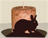 Silhouette Candle Holder - Rabbit Design