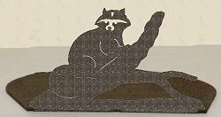 Silhouette Candle Holder - Raccoon Design