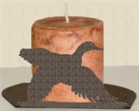 Silhouette Candle Holder - Flying Duck Design