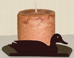 Silhouette Candle Holder - Sitting Duck Design