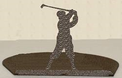 Silhouette Candle Holder - Golfer Design