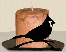 Silhouette Candle Holder - Cardinal Design