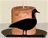 Silhouette Candle Holder - Goose Design