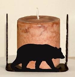 Four Sided Candle Holder - Bear Design