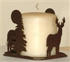 Four Sided Candle Holder - Deer Design