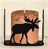 Four Sided Candle Holder - Moose Design