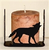 Four Sided Candle Holder - Wolf Design