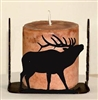 Four Sided Candle Holder - Elk Design
