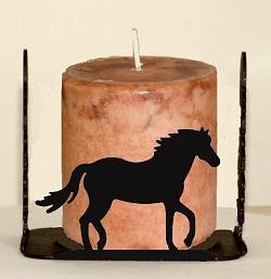 Four Sided Candle Holder - Horse Design