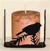 Four Sided Candle Holder - Chickadee Design