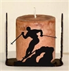 Four Sided Candle Holder - Skier Design