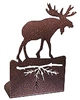 Metal Bookend Set - Moose Design