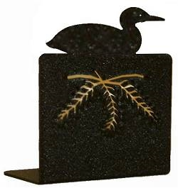 Metal Bookend Set - Loon Design