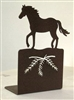 Metal Bookend Set - Horse Design