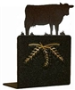 Metal Bookend Set - Cow Design