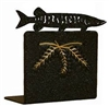 Metal Bookend Set - Muskie Design