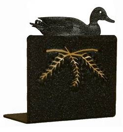 Metal Bookend Set - Duck Design