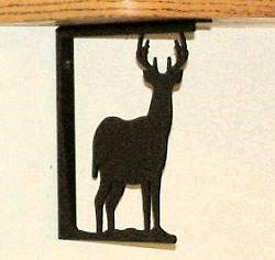 Rustic Cabin Shelf Bracket - Pair- Deer Design