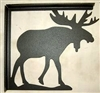Rustic Cabin Shelf Bracket - Pair- Moose Design