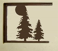 Rustic Cabin Shelf Brackets - Pair- Tree Design