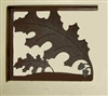 Rustic Cabin Shelf Brackets - Pair- Oak Leaf Design