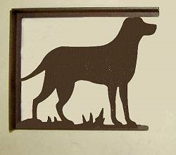 Rustic Cabin Shelf Brackets - Pair- Lab Retriever Design