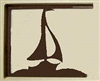 Rustic Cabin Shelf Brackets - Pair- Sailboat Design