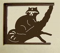 Rustic Cabin Shelf Brackets - Pair- Raccoon Design