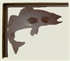 Rustic Cabin Shelf Brackets - Pair- Walleye Design