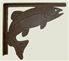 Rustic Cabin Shelf Brackets - Pair- Trout Design