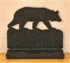 Rustic Metal Business Card Holder - Bear Design