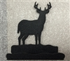 Rustic Metal Business Card Holder - Deer Design