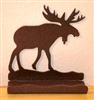 Rustic Metal Business Card Holder - Moose Design
