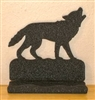 Rustic Metal Business Card Holder - Wolf Design