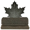 Rustic Metal Business Card Holder - Maple Leaf Design