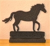 Rustic Metal Business Card Holder - Horse Design