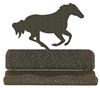 Rustic Metal Business Card Holder - Galloping Horse Design