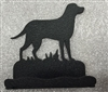 Rustic Metal Business Card Holder - Lab Retriever Design