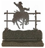 Rustic Metal Business Card Holder - Bronco Design