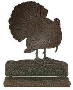 Rustic Metal Business Card Holder - Turkey Design