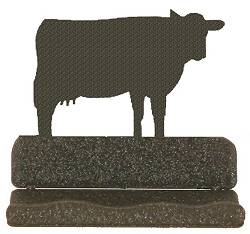 Rustic Business Card Holder - Cow Design