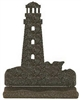 Rustic Metal Business Card Holder - Lighthouse Design