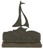Rustic Metal Business Card Holder - Sailboat Design