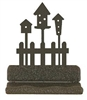 Rustic Metal Business Card Holder - Birdhouse Design