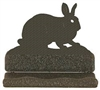 Rustic Metal Business Card Holder - Rabbit Design